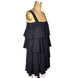 A.P.C. Rue Madam Paris Tiered Ruffle Shift Dress